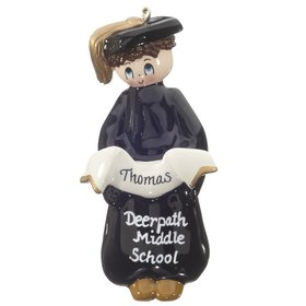 Personalized Graduate (Boy) Christmas Ornament