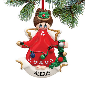 Personalized Angel With Lights Christmas Ornament