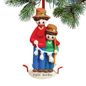 Personalized Fishing Buddies Christmas Ornament