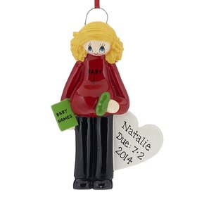 Personalized Pregnant Mom Christmas Ornament