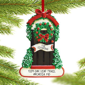 Personalized Wintery Door Christmas Ornament