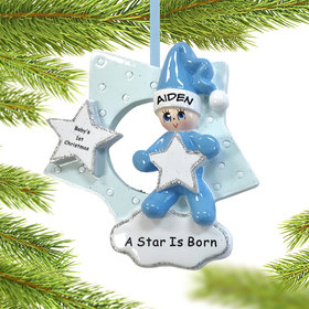 Personalized A Star is Born Boy Christmas Ornament