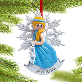 Personalized Snow Princess Christmas Ornament