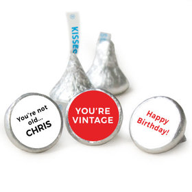 Birthday Personalized Hershey's Kisses You're Vintage Assembled Kisses (50 Pack)
