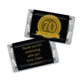 Milestones Personalized Hershey's Miniatures Candy 70th Birthday Favors