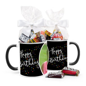 Personalized Birthday Colorful Stars 11oz Mug with Hershey's Miniatures