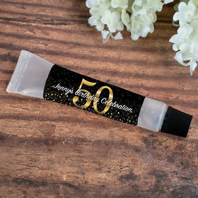 Hand Sanitizer Tube 0.5 fl. oz. - Personalized Milestone 50th Birthday