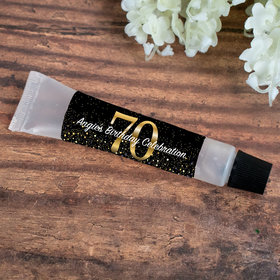 Hand Sanitizer Tube 0.5 fl. oz. - Personalized Milestone 70th Birthday
