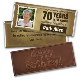 100th Birthday Personalized Embossed Chocolate Bar Years in the Making Photo