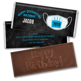 Personalized Quarantine Birthday Colors Embossed Chocolate Bar
