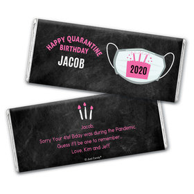 Personalized Quarantine Birthday Colors Chocolate Bar Wrappers