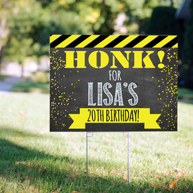 Birthday Yard Sign Personalized - Honk
