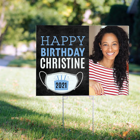 Personalized Birthday Yard Sign with Photo