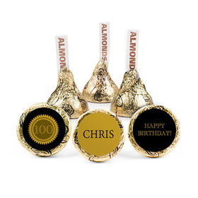 Personalized Milestone 100th Birthday Seal Hershey's Kisses (50 pack)