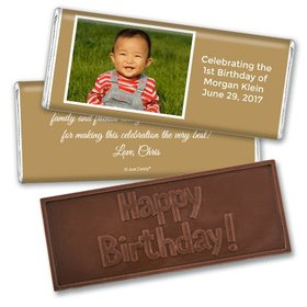 Personalized Birthday Embossed Happy birthday Chocolate Bar Photo & Message