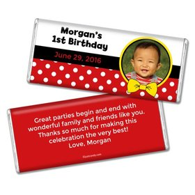 Birthday Personalized Chocolate Bar Mickey Mouse Photo