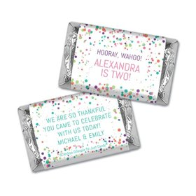 Birthday Personalized Hershey's Miniatures Colorful Splatter