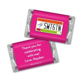 Birthday Personalized Hershey's Miniatures Sweet 16 License Plate