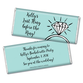 Bonnie Marcus Collection Personalized Chocolate Bar Chocolate and Wrapper with Gold Foil Last Fling Bachelorette Party Favors
