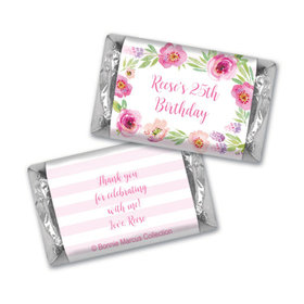 Bonnie Marcus Collection Chocolate Candy Bar & Wrapper Floral Embrace Birthday Favors