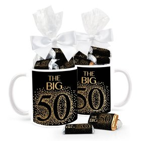 Birthday Sparkling 50th 11oz Mug with Hershey's Miniatures