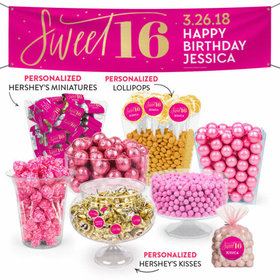Personalized Bonnie Marcus Sweet 16 Birthday Shimmer Deluxe Candy Buffet