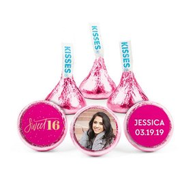 Personalized Bonnie Marcus Birthday Pink & Gold Hershey's Kisses (50 pack)
