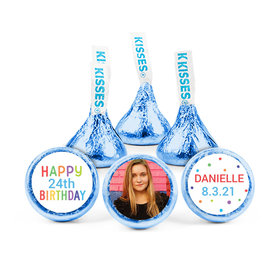 Personalized Birthday Colorful Candles Hershey's Kisses (50 pack)