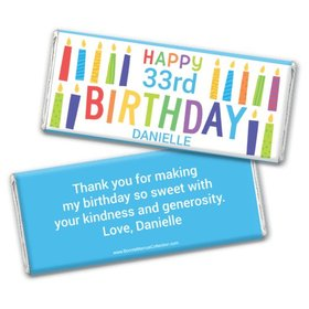 Personalized Bonnie Marcus Birthday Colorful Candless Chocolate Bars