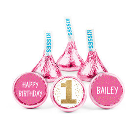 Personalized Birthday Golden One Hershey's Kisses (50 pack)