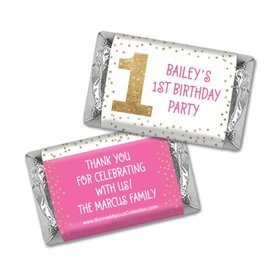 Personalized Bonnie Marcus 1st Birthday Golden One Hershey's Miniatures