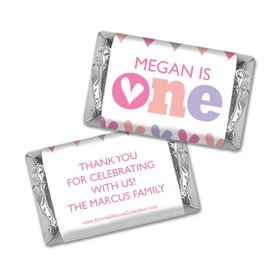 Personalized Bonnie Marcus 1st Birthday Adorable One Hershey's Miniatures