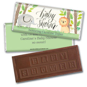 Personalized Bonnie Marcus Baby Shower Sarafi Nursery Embossed Chocolate Bar & Wrapper