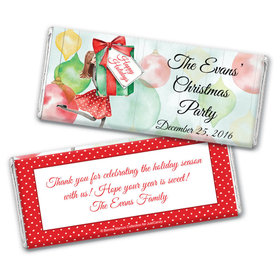 Bonnie Marcus Collection Christmas Personalized Chocolate Bar Wrappers