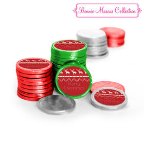 Bonnie Marcus Collection Holiday Wishes Christmas Chocolate Coins (84 Pack)