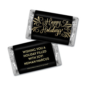 Personalized Bonnie Marcus Happy Holidays Flourish Hershey's Miniatures