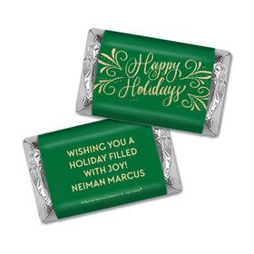 Personalized Bonnie Marcus Happy Holidays Flourish Mini Wrappers Only