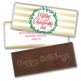 Personalized Bonnie Marcus Christmas Chic Embossed Chocolate Bar & Wrapper