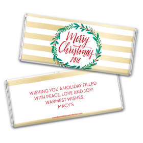 Personalized Bonnie Marcus Christmas Chic Chocolate Bar Wrappers