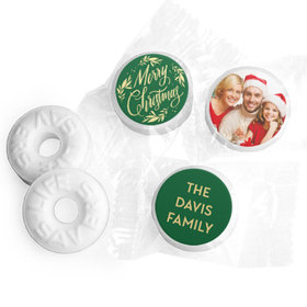 Personalized Bonnie Marcus Christmas Festive Leaves Photo Life Savers Mints