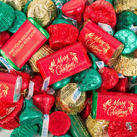 Merry Christmas Hershey's Miniatures, Kisses and Reese's Peanut Butter Cups