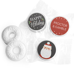 Personalized Bonnie Marcus Christmas Snowy Santa Life Savers Mints