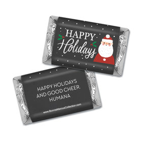 Personalized Bonnie Marcus Christmas Snowy Santa Mini Wrappers Only