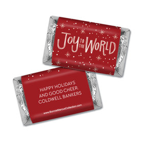 Personalized Bonnie Marcus Christmas Joy to the World Hershey's Miniatures