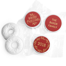 Personalized Bonnie Marcus Christmas Joyful Gold Life Savers Mints