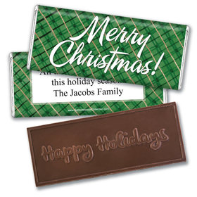 Personalized Bonnie Marcus Christmas Classical Christmas Embossed Chocolate Bar & Wrapper