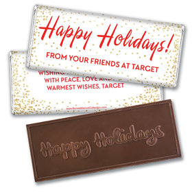 Personalized Bonnie Marcus Christmas Joyous Spirit Embossed Chocolate Bar & Wrapper