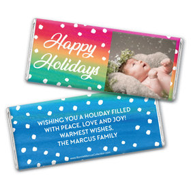 Personalized Bonnie Marcus Christmas Holiday Magic Chocolate Bar Wrappers