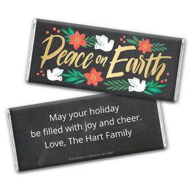 Personalized Bonnie Marcus Christmas Peace on Earth Chocolate Bar Wrapper Only