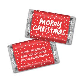 Personalized Bonnie Marcus Christmas Jolly Red Hershey's Miniatures